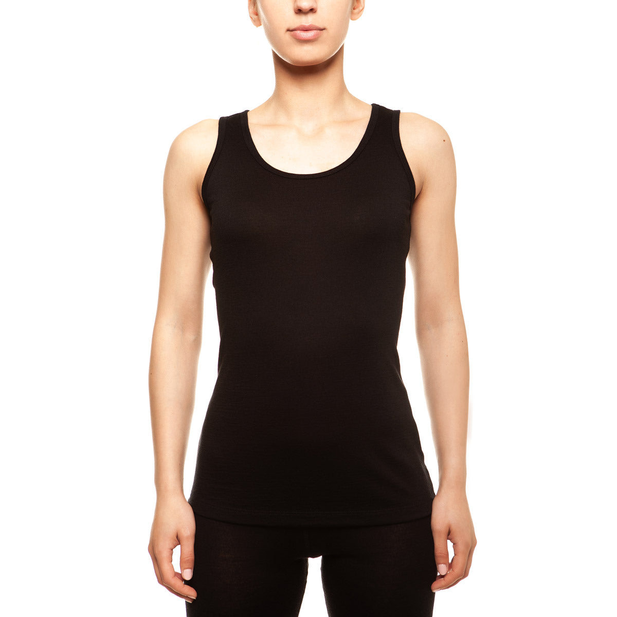 menique Women's Merino 160 Tank Top Black Color