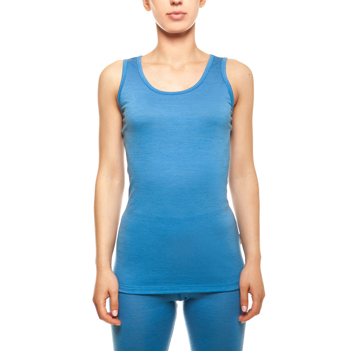 menique Women's Merino 160 Tank Top Light Blue Color