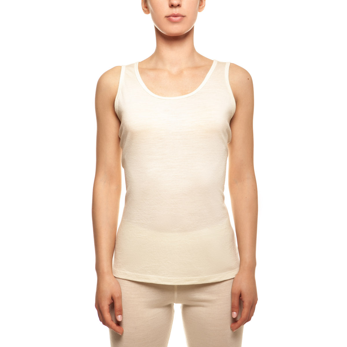 menique Women's Merino 160 Tank Top Natural Color in nature