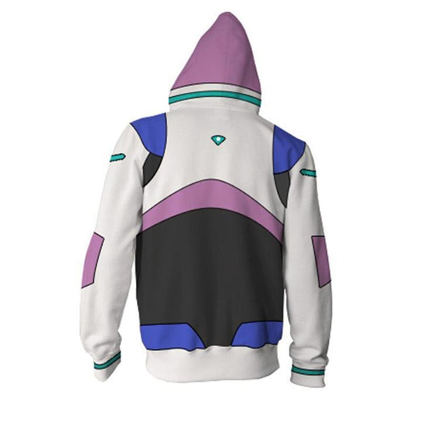Voltron Cosplay Hoodie | 3D Printed Keith Zipper Jacket Sweatshirt