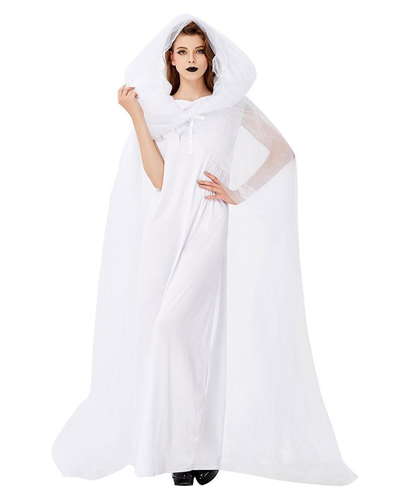Adult Womens White Ghost Halloween Costume