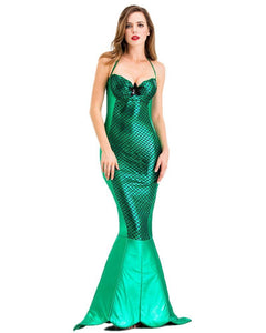 Adult Green Wet Look Mermaid Costume