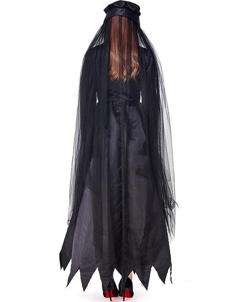 Adult Womens Halloween Cemetery Ghosts Costume