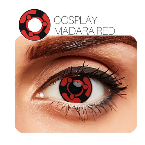 Madara Cosplay Red (12 Month) Contact Lenses