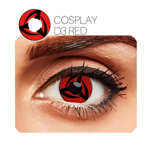 Vortex Cosplay Red (12 Month) Contact Lenses