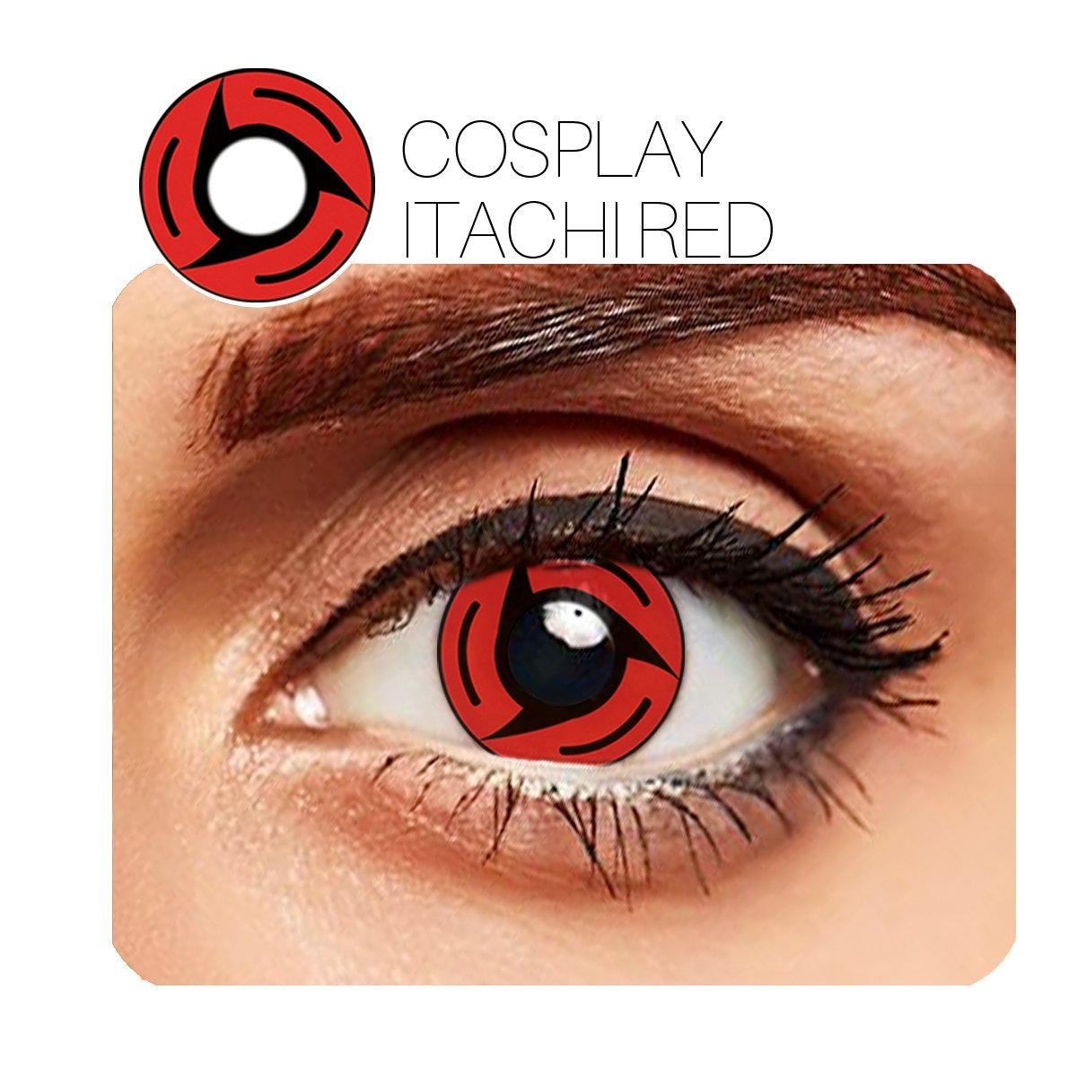 Itachi Cosplay Red (12 Month) Contact Lenses