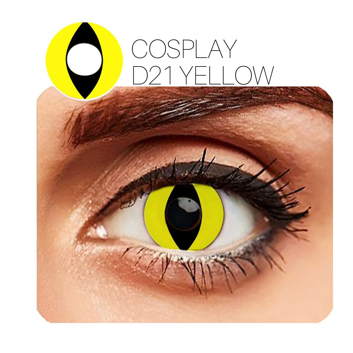 Spider Cosplay Yellow (12 Month) Contact Lenses