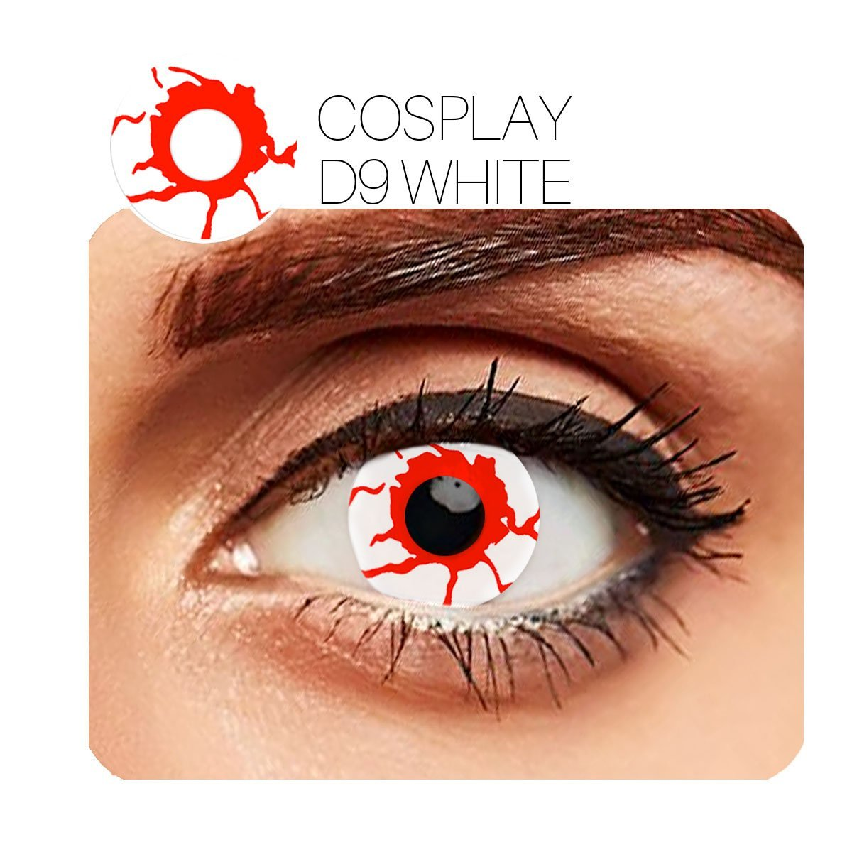 Bleeding Cosplay Red (12 Month) Contact Lenses