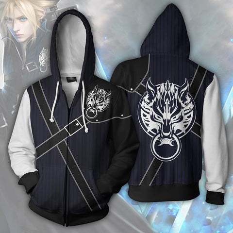 Final Fantasy Hoodies Cloud Strife Zip Up Hoodie