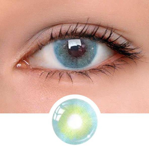 Eye Aurora Blue Colored Contact Lenses