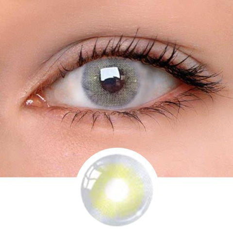Aurora Cyan&Grey Colored Contact Lenses