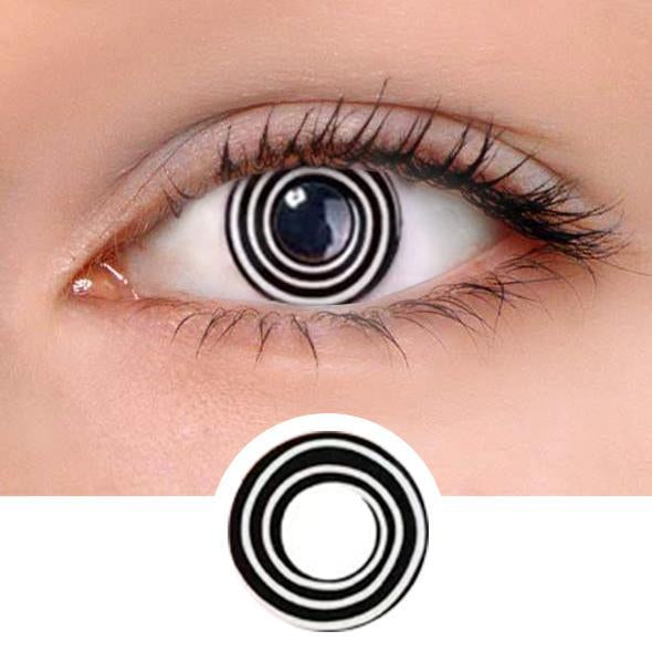 Black & White Swirl Colored Contact Lenses