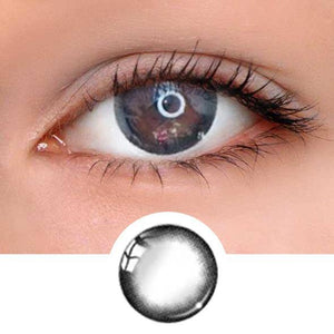 Bubble Black Colored Contact Lenses