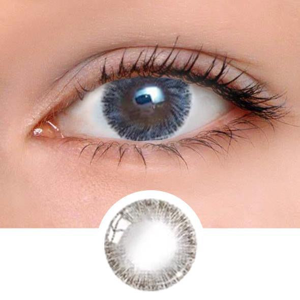Caribbean Grey Colored Contact Lenses