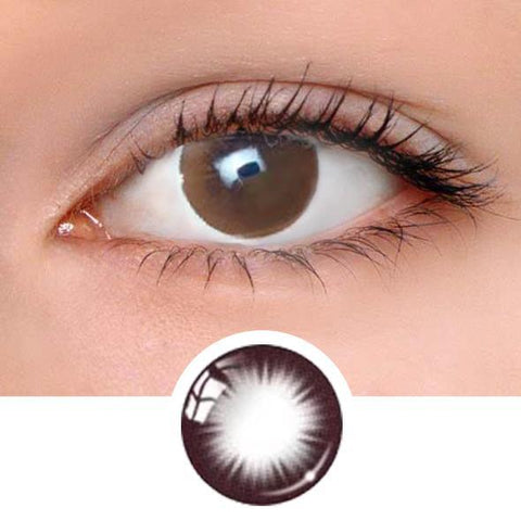 Chic Chocolate Brown Colored Contact Lenses