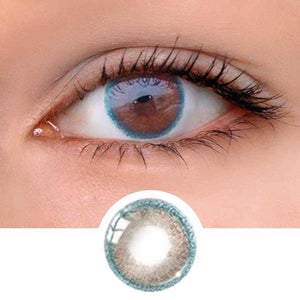 Chocolate Green Ring Colored Contact Lenses