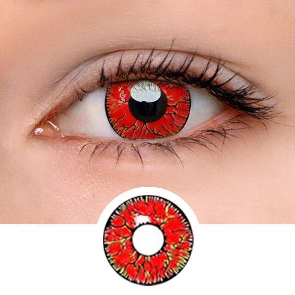 Dangerous Ruby Colored Contact Lenses