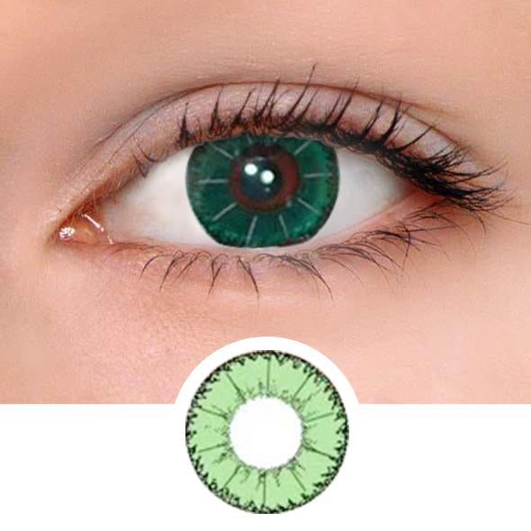 Eye Devil Green Colored Contact Lenses