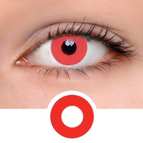 Devil Red Colored Contact Lenses