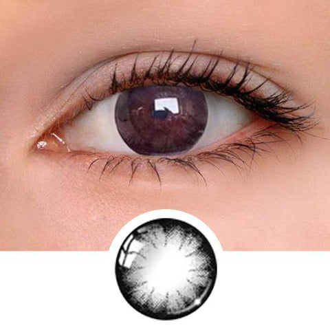 Flower Black Colored Contact Lenses