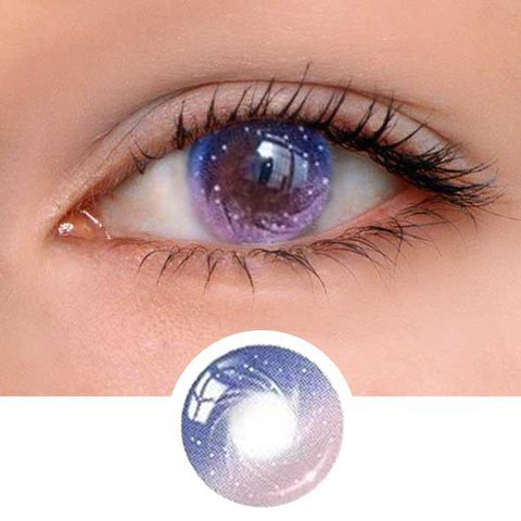 Galaxy Pink Colored Contact Lenses