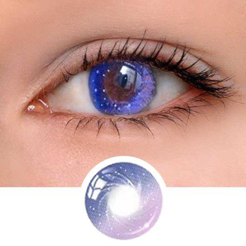 Galaxy Purple Colored Contact Lenses