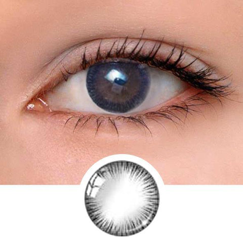 Girl Black Colored Contact Lenses