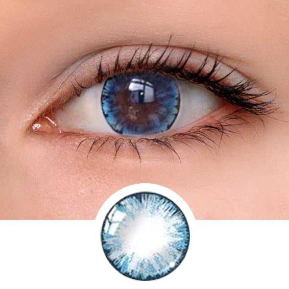 Girl Blue Colored Contact Lenses