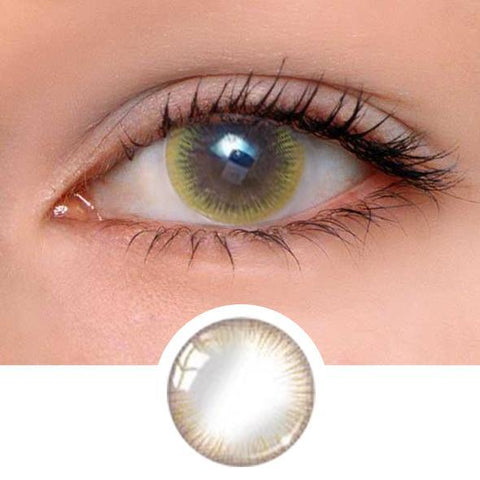 Girl Brown Colored Contact Lenses