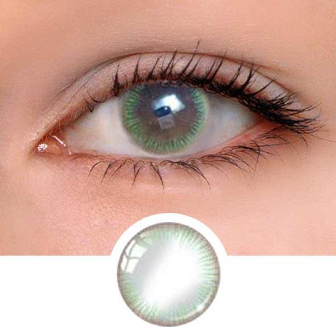 Girl Green Colored Contact Lenses