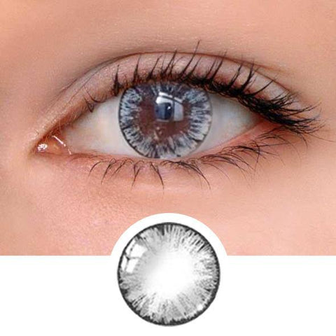 Girl Grey Colored Contact Lenses
