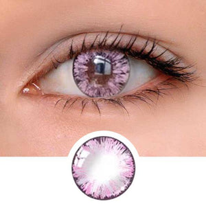 Girl Pink Colored Contact Lenses