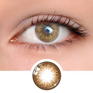 Glamour Brown Colored Contact Lenses