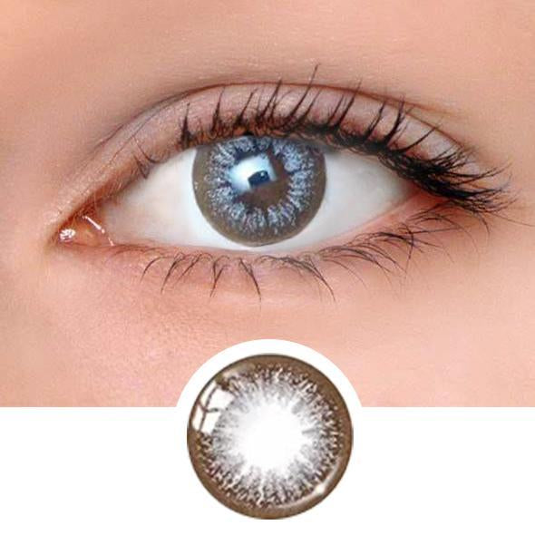 Glamour Grey Colored Contact Lenses