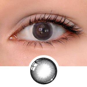 Hazelnut Black Colored Contact Lenses