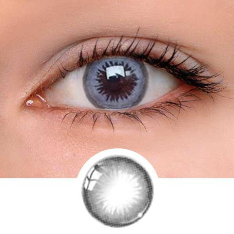 Honey Grey Colored Contact Lenses