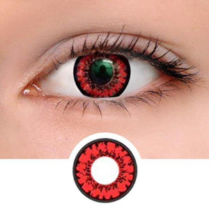 Honey Red Colored Contact Lenses