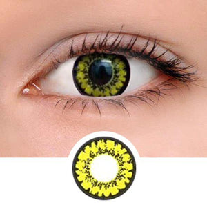 Honey Yellow Colored Contact Lenses