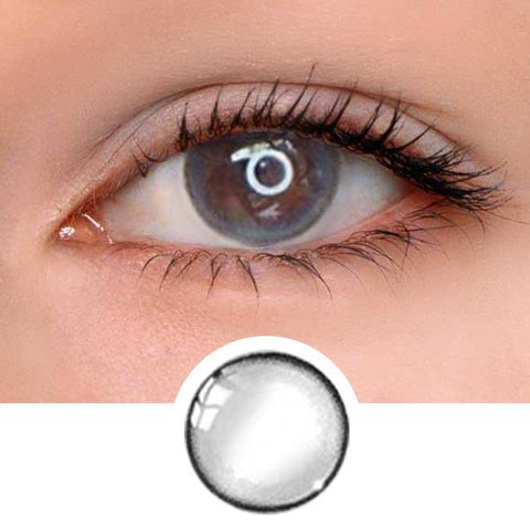 Oxygen Grey Colored Contact Lenses