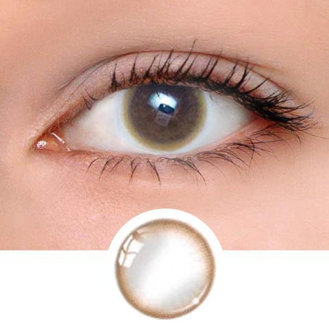 Pastel Brown Colored Contact Lenses