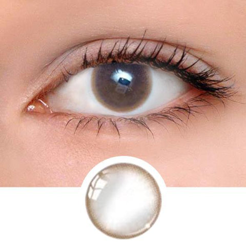 Pastel Chocolate Brown Colored Contact Lenses
