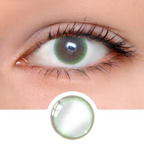 Pastel Green Colored Contact Lenses