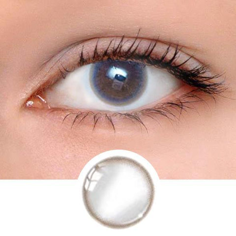 Pastel Grey Colored Contact Lenses