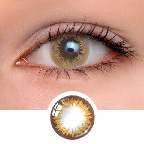 Perfume lily Brown Colored Contact Lenses