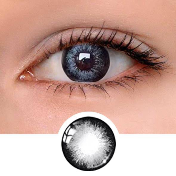 Rum Grey Colored Contact Lenses