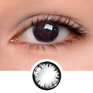 Snowflake Black Colored Contact Lenses