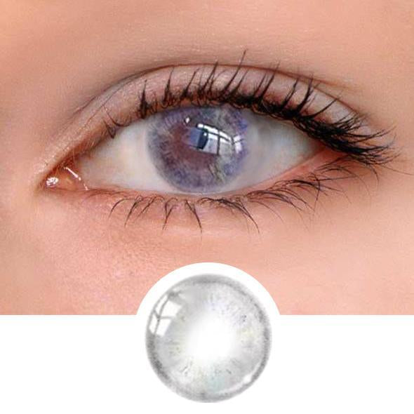 Velvet Grey Colored Contact Lenses