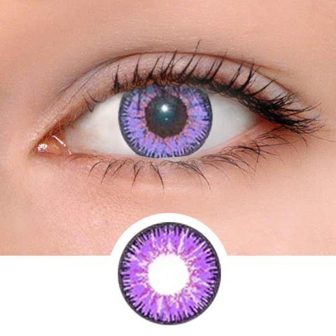 Vicka Purple Colored Contact Lenses