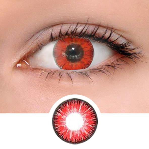 Vicka Red Colored Contact Lenses