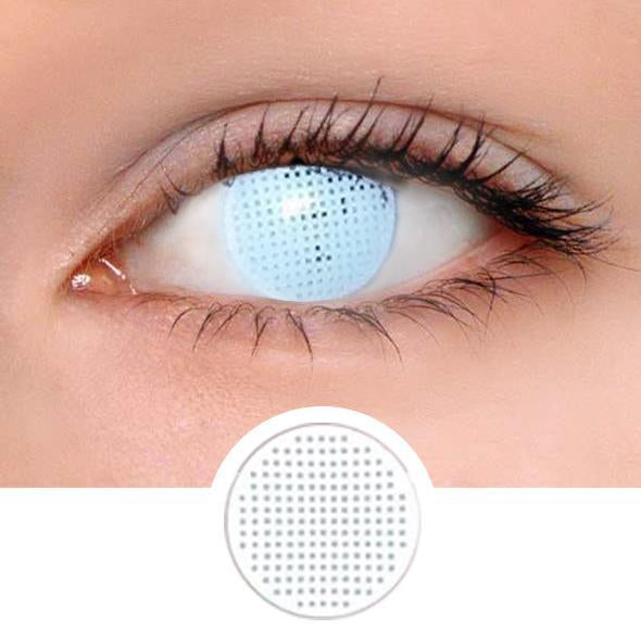 White Mesh Colored Contact Lenses